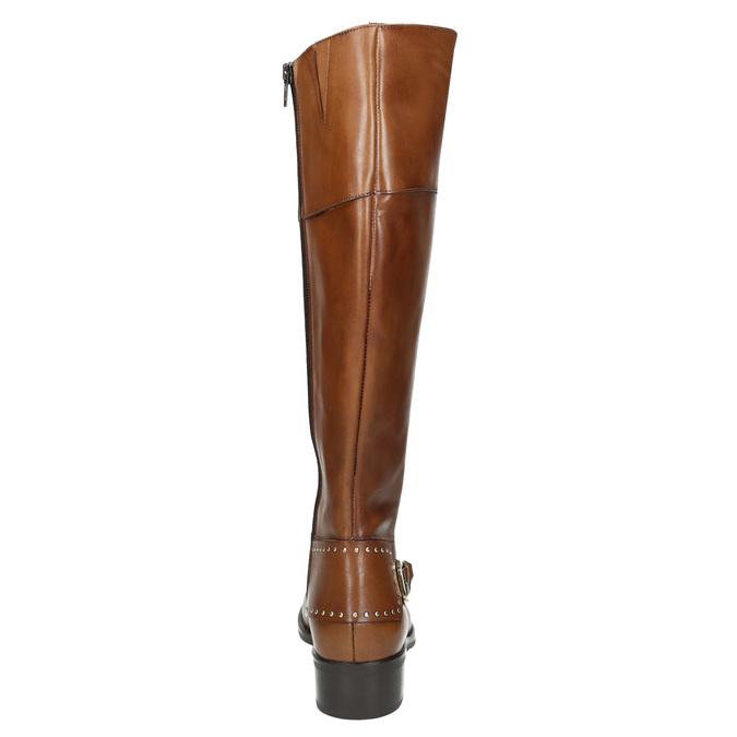 Dámské kožené čižmy s prackou bata, hnedá, 594-3427 - 17
