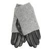 Kožené rukavice so svetrovým detailom bata, šedá, 904-2125 - 13