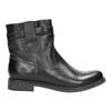 Dámska kožená členková obuv bata, čierna, 594-6611 - 15