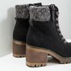 Členková obuv na masivnom podpätku bata, čierna, 699-6633 - 14