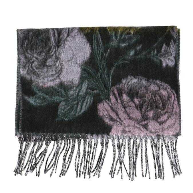 Dámsky šál s kvetinovým vzorom bata, modrá, 909-9643 - 26