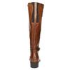 Hnedé kožené čižmy bata, hnedá, 596-4665 - 17