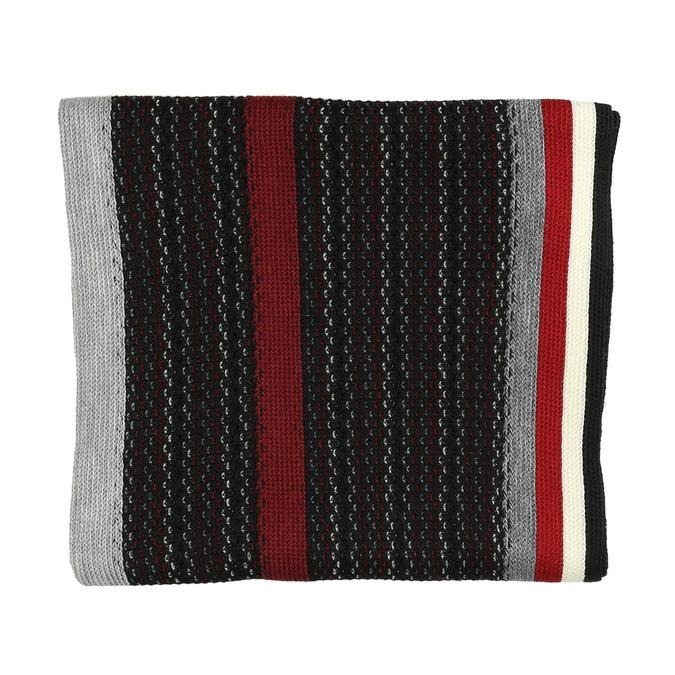 Pánsky pruhovaný šál bata, čierna, 909-6616 - 26