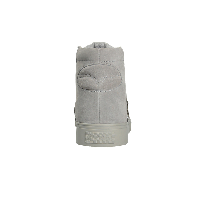 Pánska kožená členková obuv diesel, šedá, 803-2629 - 16