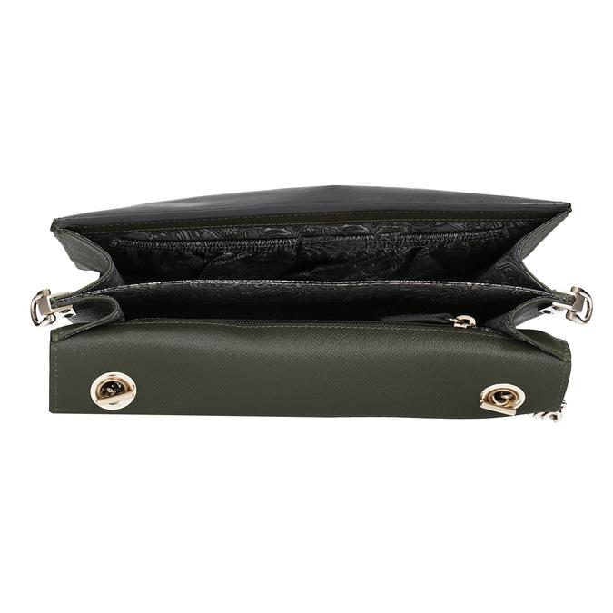 Dámska kožená listová kabelka picard, zelená, 964-7097 - 15