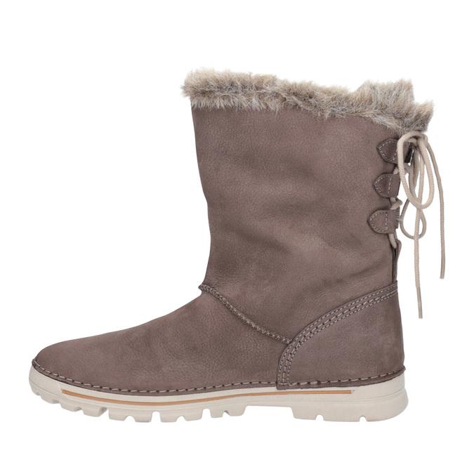 Dámske zimné topánky s kožúškom weinbrenner, hnedá, 596-4334 - 15