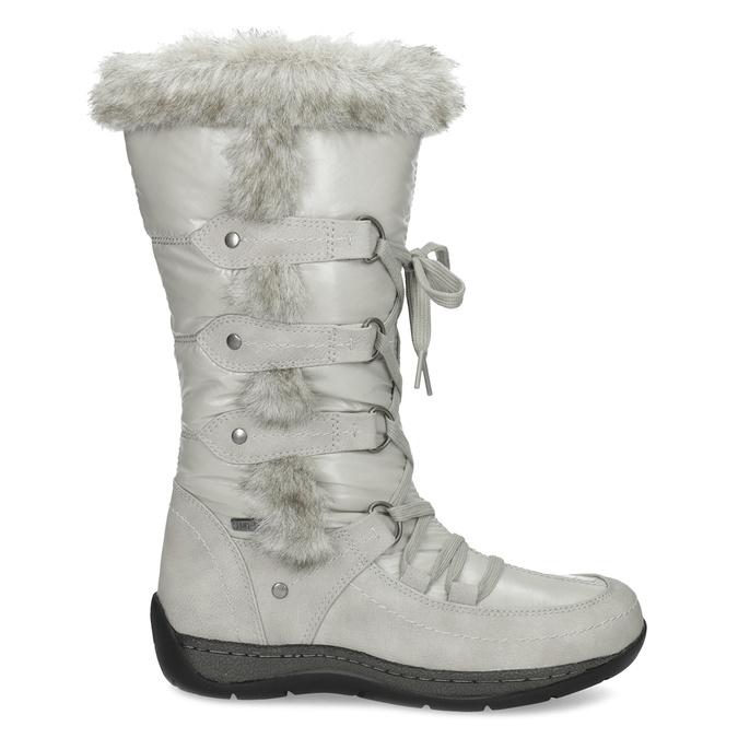 Zimné snehule s kožúškom bata, šedá, 599-8618 - 19