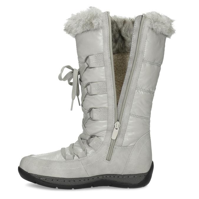 Zimné snehule s kožúškom bata, šedá, 599-8618 - 17