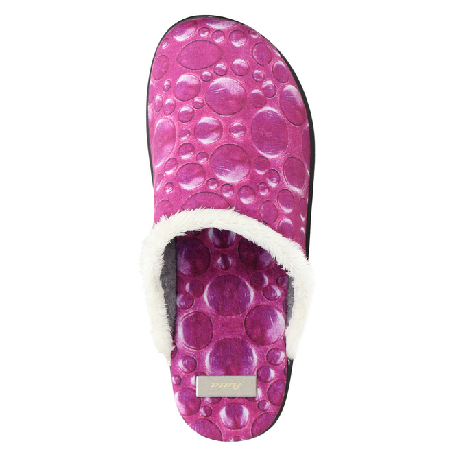 Dámska domáca obuv ružová bata, 579-5622 - 26