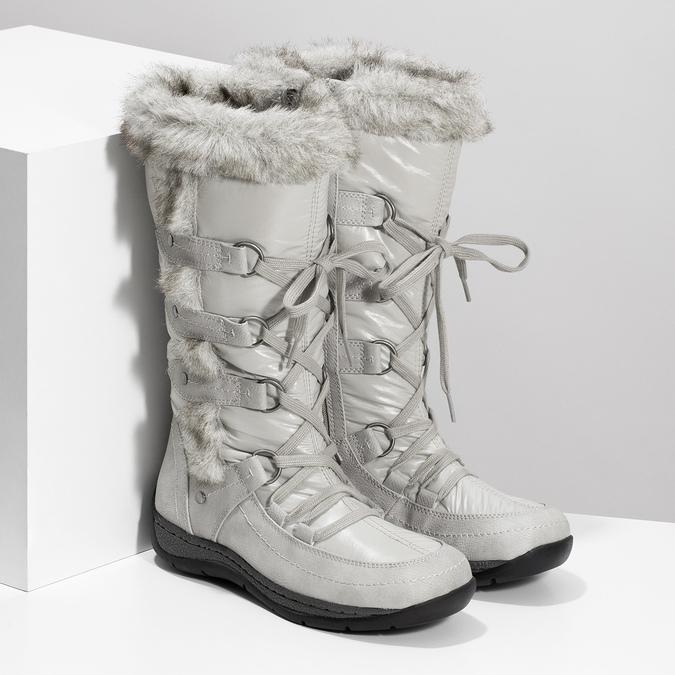 Zimné snehule s kožúškom bata, šedá, 599-8618 - 26