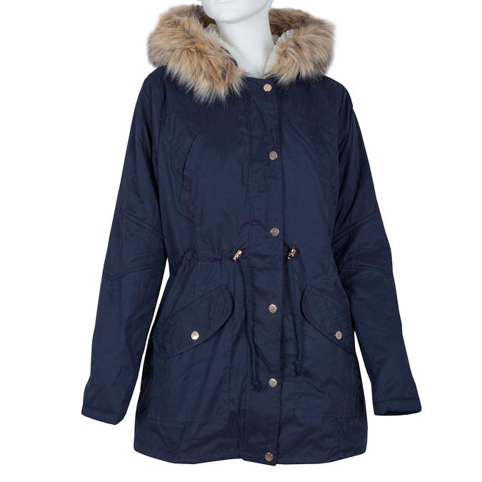 Dámská bunda s vymeniteľným kožúškom bata, modrá, 979-9131 - 13