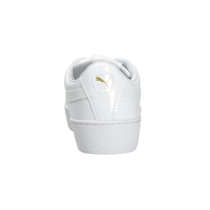 Biele dámske tenisky na flatforme puma, biela, 501-1159 - 16