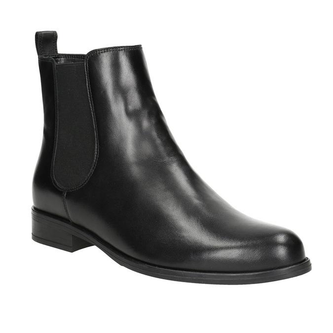 Dámske kožené Chelsea Boots bata, čierna, 594-6661 - 13