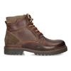 Kožená členková zimná obuv bata, hnedá, 896-4661 - 19