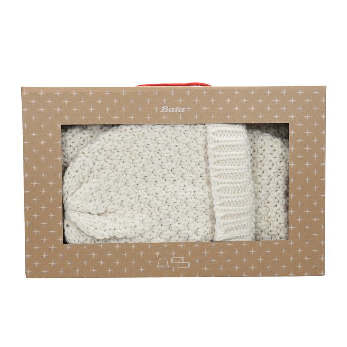 Darčekový set  kruhového šálu a čiapky bata, viacfarebné, 909-0170 - 26