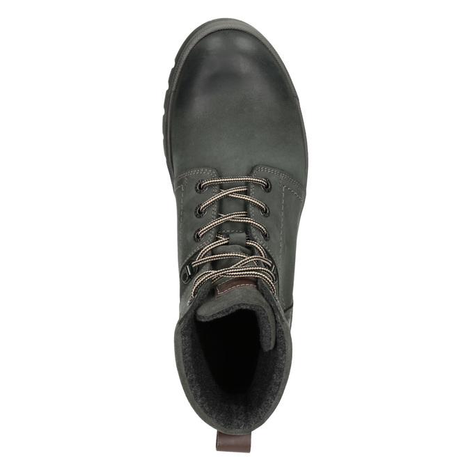 Kožená členková obuv weinbrenner, šedá, 896-2703 - 15