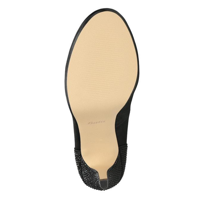 Dámske lodičky s kamienkovou aplikáciou bata, čierna, 729-6612 - 17
