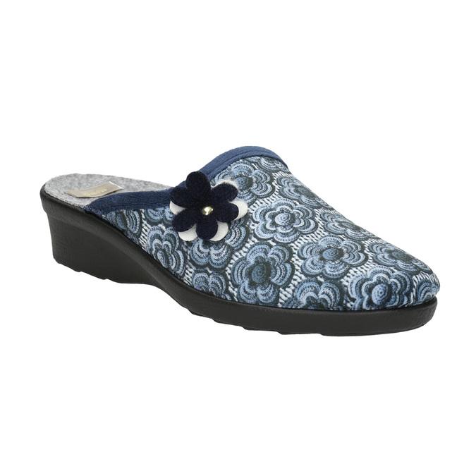 Dámska domáca obuv bata, modrá, 579-9623 - 13