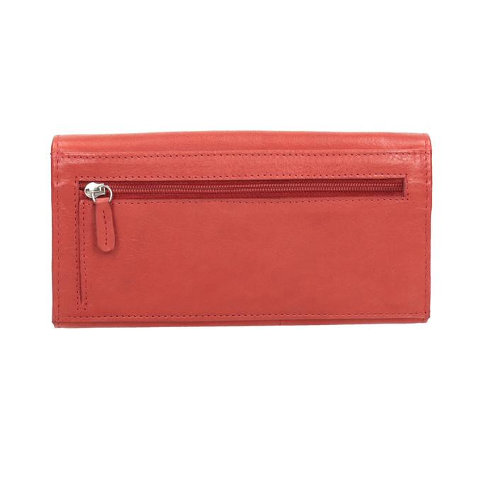 Dámska červená peňaženka z kože bata, červená, 944-3203 - 16