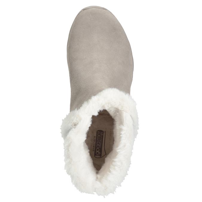Dámska obuv z brúsenej kože skechers, 503-3326 - 17