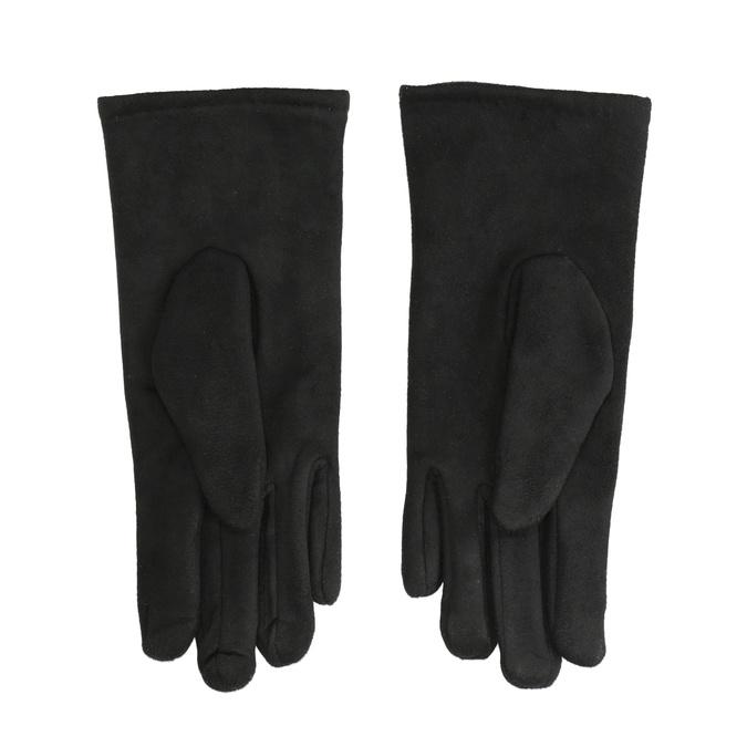 Dámske textilné rukavice bata, čierna, 909-6612 - 16