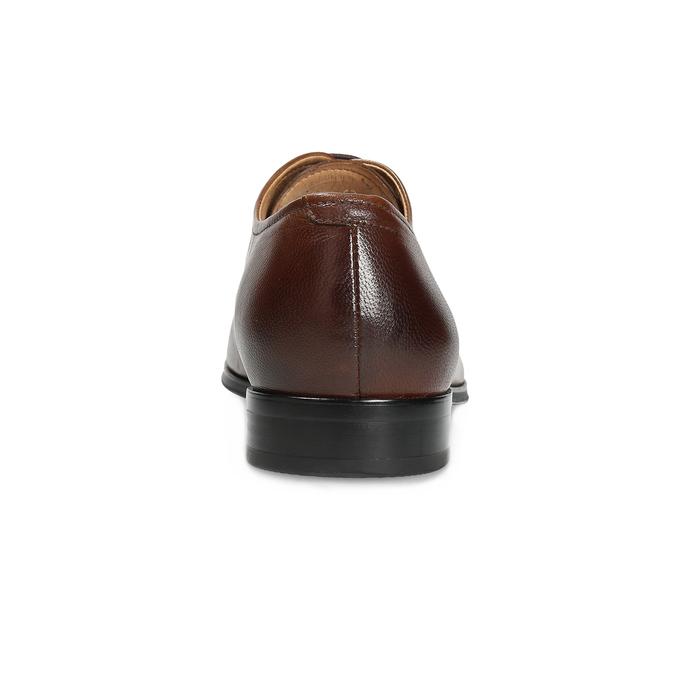 Hnedé kožené Oxford poltopánky bata, hnedá, 826-3808 - 15