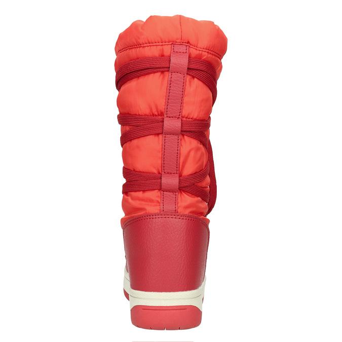 Červené dámske snehule bata, červená, 599-5616 - 17