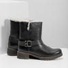 Dámska obuv s kožúškom bata, čierna, 594-6609 - 16