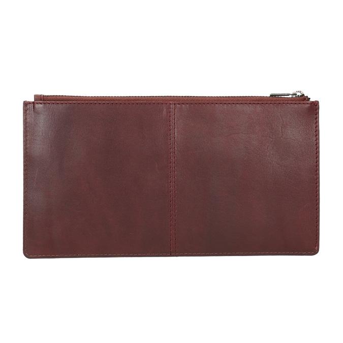 Kožená listová kabelka s prešitím bata, červená, 966-5285 - 15