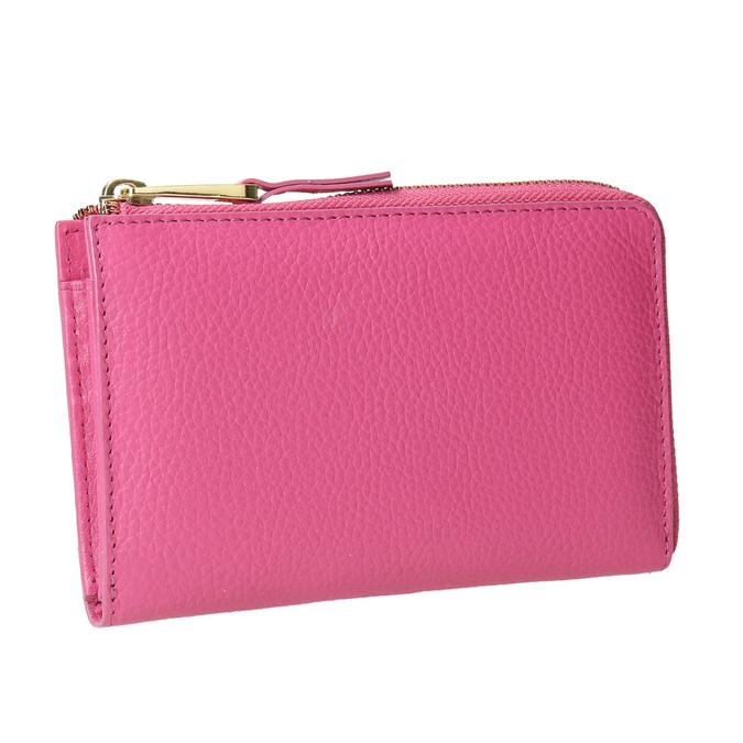 Ružová kožená peňaženka bata, ružová, 946-5284 - 13