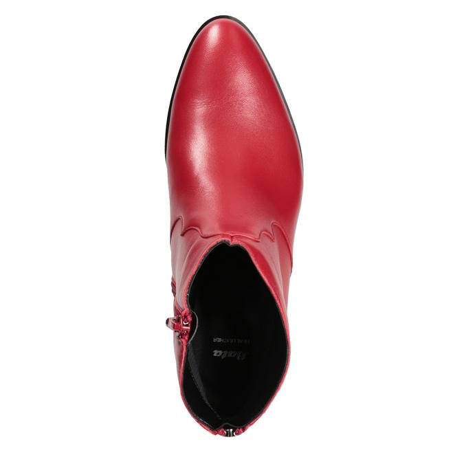 Červená členková obuv bata, červená, 594-5665 - 17