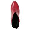 Červené členkové čižmy z kože bata, červená, 794-5652 - 17