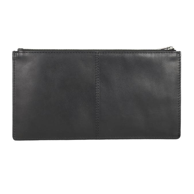 Čierna kožená listová kabelka bata, čierna, 966-6285 - 15