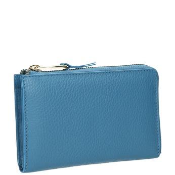 Modrá kožená peňaženka bata, modrá, 946-9284 - 13