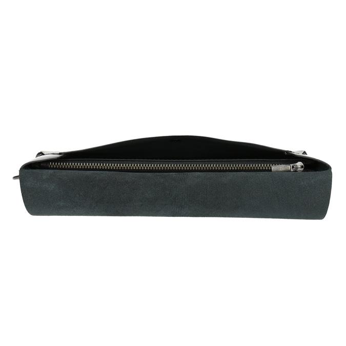 Čierna kožená listová kabelka bata, čierna, 966-6285 - 17