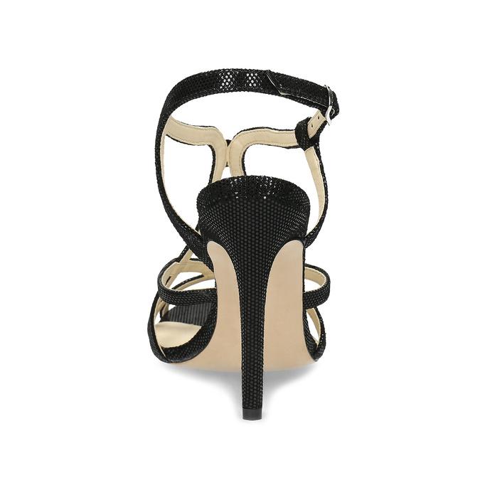 Dámske spoločenské sandále bata, čierna, 726-6648 - 15