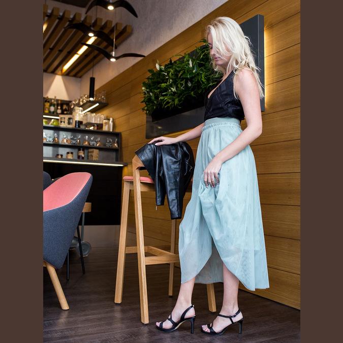Dámske spoločenské sandále s kamienkami bata, čierna, 729-6611 - 18