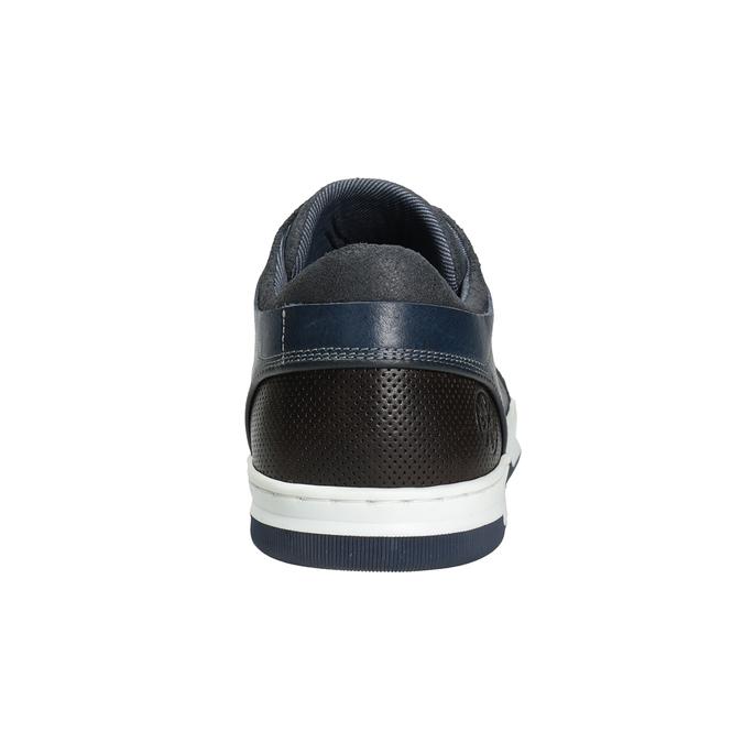 Modré kožené tenisky bata, modrá, 846-9927 - 16