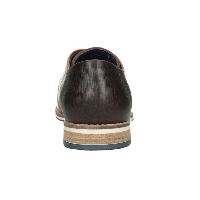 Kožené hnedé poltopánky bata, hnedá, 826-3924 - 16