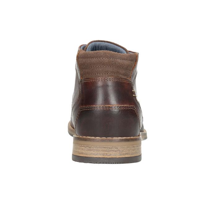 Pánska kožená členková obuv bata, hnedá, 826-3926 - 16