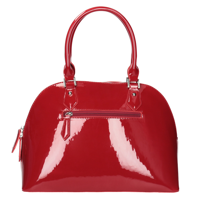 Červená lakovaná kabelka bata, červená, 961-5849 - 16
