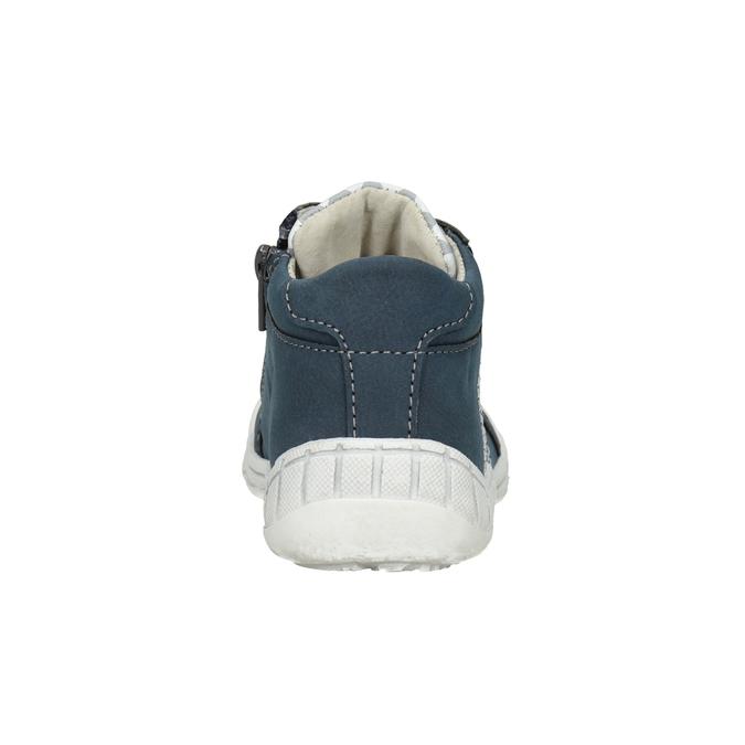 Detská členková obuv so vzorom bubblegummers, modrá, 111-9626 - 16