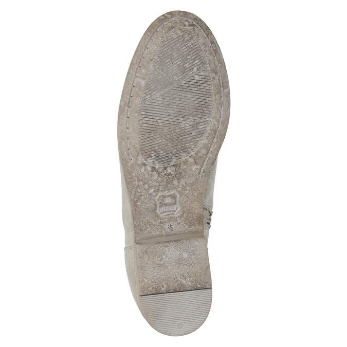 Členkové čižmy s výšivkou bata, šedá, 596-2686 - 19