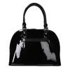 Čierna lakovaná kabelka bata, čierna, 961-6849 - 16