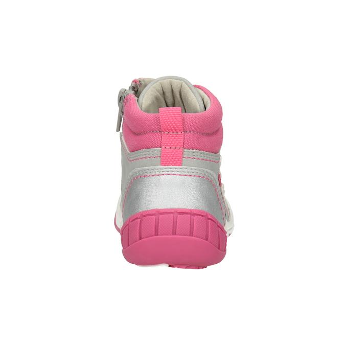 Členková detská obuv s výšivkou bubblegummers, šedá, 121-2619 - 16