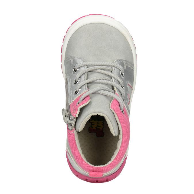 Členková detská obuv s výšivkou bubblegummers, šedá, 121-2619 - 15