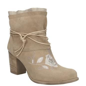 Členkové čižmy s výšivkou a kamienkami bata, 696-2655 - 13