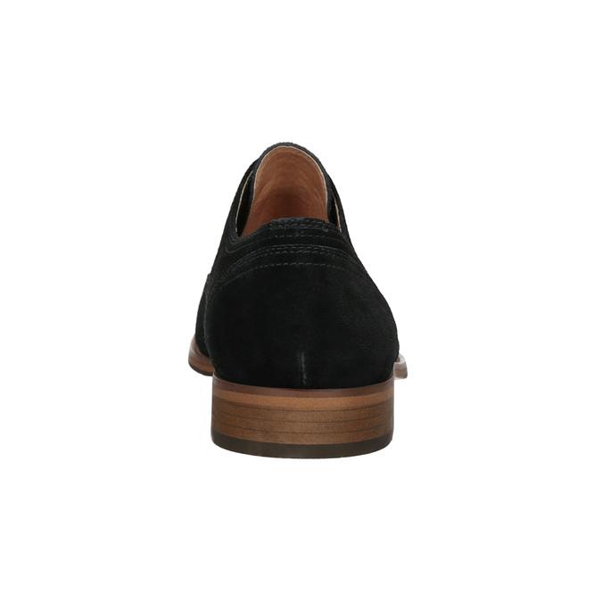 Poltopánky typu Oxford z brúsenej kože bata, čierna, 823-6618 - 16