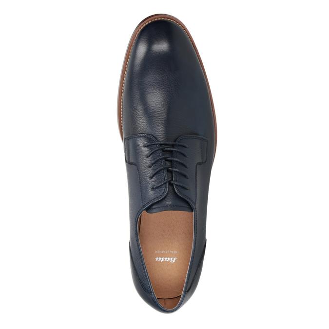Modré kožené poltopánky bata, modrá, 826-9997 - 15