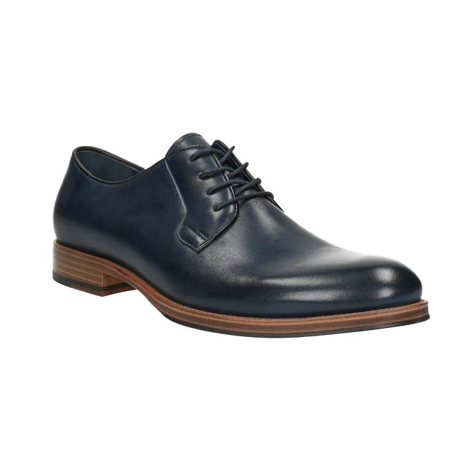 Modré kožené poltopánky bata, modrá, 826-9810 - 13